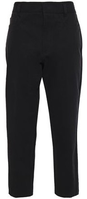 Haider Ackermann Cropped Two-tone Wool-cady Tapered Pants