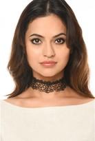 AX Paris Black Lace Choker Necklace