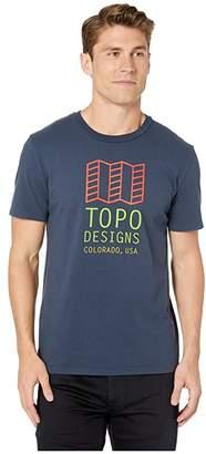 Topo Designs Original Logo Tee (Navy) T Shirt