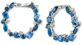 LeVian Le Vian® Precious Collection Sapphire (3 ct. t.w.) and Diamond (1/5 ct. t.w.) Hoop Earrings in 14k Gold, Only at Macy's