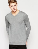 Jack and Jones V Neck Knitted Sweater
