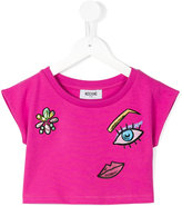 Moschino Kids - printed T-shirt - kids - Cotton/Spandex/Elastane - 4 yrs