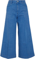 Stella McCartney Cropped High-rise Flared Jeans - Light blue