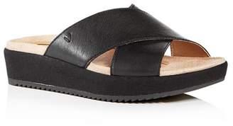Vionic Women's Hayden Crisscross Platform Wedge Slide Sandals