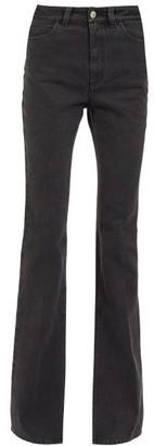 ATTICO Slit-hem High-rise Flared-leg Jeans - Black