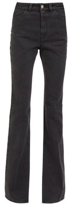 ATTICO Split-hem High-rise Jeans - Black