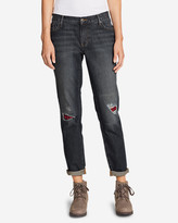 Eddie Bauer Women's Boyfriend Flannel-Patch Jeans