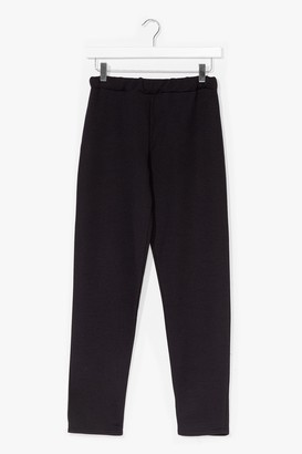 Nasty Gal Womens Slim the Lights High-Waisted Jogger trousers - Black - 6, Black