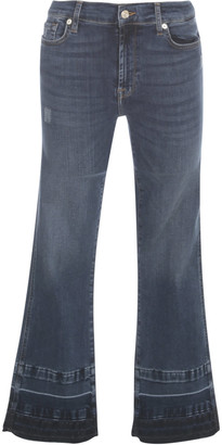 7 For All Mankind Cropped Boot Unrolled Slim Illusione Persuit