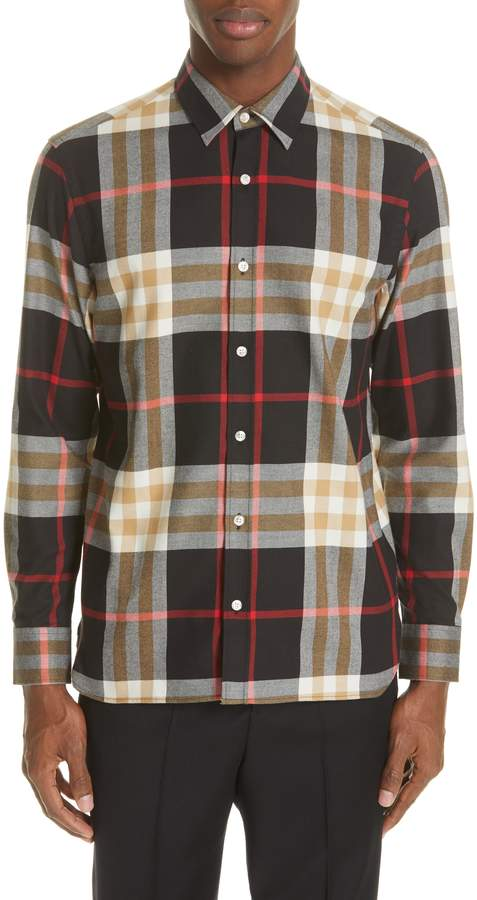 Clothing, Shoes & Accessories New Burberry London Richard Slim Fit Plaid Sport Shirt Size S Men's Clothing