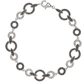 Judith Jack Bracelet, Marcasite and Crystal Circle Link