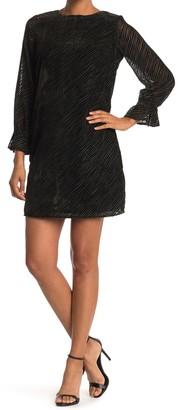 Sam Edelman Crush Velvet Stripe Shift Dress