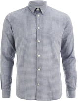 Folk Men's Grid Check Shirt Navy