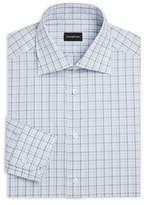 Ermenegildo Zegna Regular Fit Checker-Print Dress Shirt