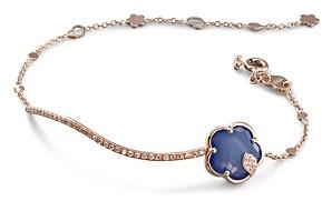 Pasquale Bruni 18K Rose Gold Joli Agate & Lapis Doublet Station Bracelet with Champagne & White Diamonds