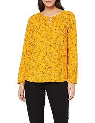 Tom Tailor Women's Geblümte Struktur Blouse, (Yellow Floral Design 19774), 16 (Size:)