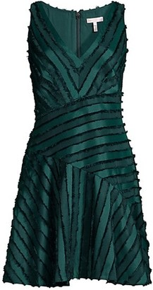 Rebecca Taylor Eyelash Stripe Sleeveless Dress