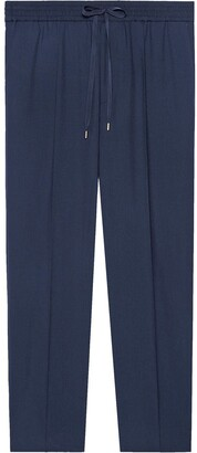 Gucci Tailored wool jogging trousers