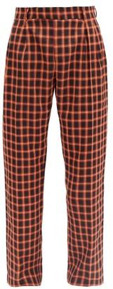 Ahluwalia Checked Wool-blend Safari Trousers - Red