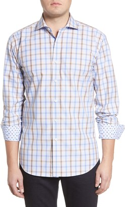 Bugatchi Shaped Fit Plaid Button-Up Shirt
