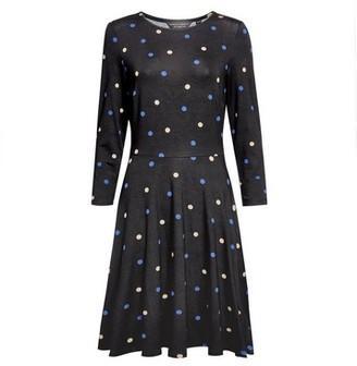 Dorothy Perkins Womens Black Camel Spot Crew Neck Jersey Dress, Black