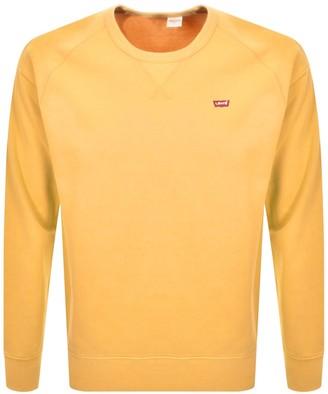 Levi's Levis Crew Neck Sweatshirt Yellow