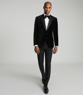 Reiss Ace - Velvet Blazer in Black
