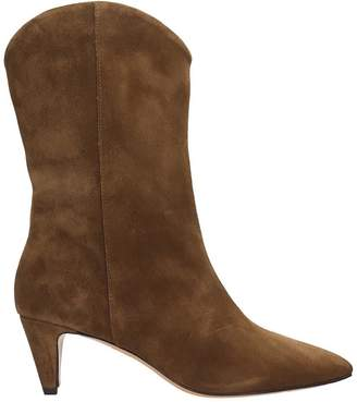The Seller High Heels Ankle Boots In Brown Suede