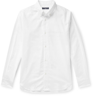 Comme Des Garçons Homme Slim-Fit Button-Down Collar Logo-Embroidered Cotton Oxford Shirt