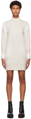Sacai Beige Sponge Sweat Dress