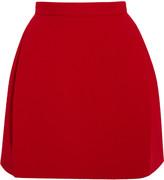 DELPOZO Wool-blend crepe mini skirt