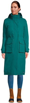 Lands' End Petite Squall Insulated Long Stadium Coat