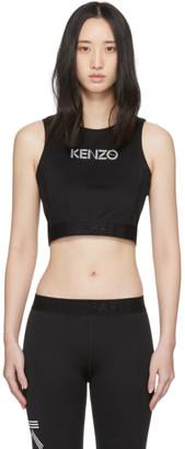 Kenzo Black Logo Sports Bra