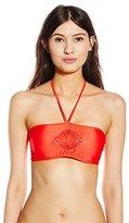 Luli Fama Women's Pineapple Fields Weave Center Bandeau Bikini Top