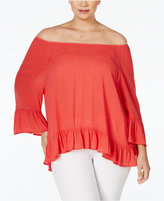 Style&Co. Style & Co Plus Size Off-The-Shoulder Peasant Blouse, Only at Macy's