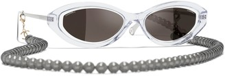 Chanel Irregular Sunglasses CH5424, Crystal/Black