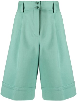 See by Chloe High-Rise Knee-Length Shorts