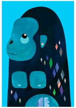 Maxwell & Williams Pete Cromer Wildlife Tea Towel 50x70cm Gorilla