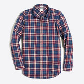 J.Crew Factory Petite lightweight homespun shirt in boy fit