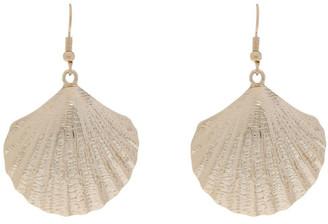 Miss Shop Metal Shell Earrings