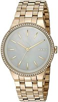 DKNY Women's 'Park Slope' Quartz Stainless Steel Casual Watch, Color:Gold-Toned (Model: NY2580)