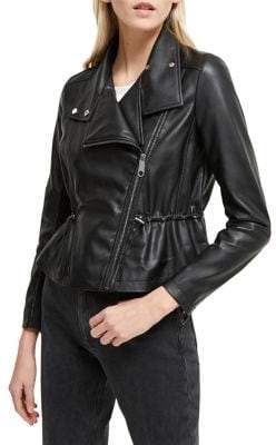French Connection Arianna Faux Leather Jacket