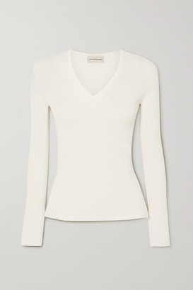 By Malene Birger Dinah Ribbed-knit Sweater - White