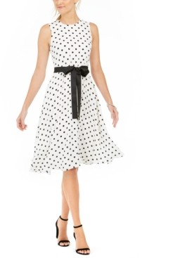 Harper Rose Polka Dot Fit & Flare Dress