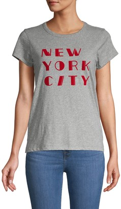 Rag & Bone Short-Sleeve Graphic Cotton Tee