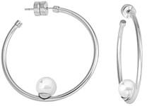 Majorica Handcrafted Simulated Pearl Hoop Earrings