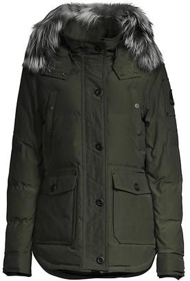 Moose Knuckles Fox Fur-Trim Jacket