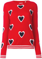 Chinti & Parker cashmere all over heart burst sweater