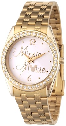Disney Minnie Mouse Women's Crystal Embellished Watch