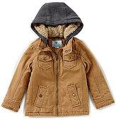 Class Club Little Boys 2T-7 Hooded Twill Coat